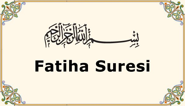 Photo of Fatiha Suresi