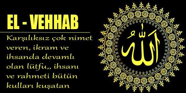 EL-VEHHAB-ESMAÜL-HÜSNA