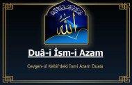 Duâ-i İsm-i Azam - İsm-i Azam Duası Meali