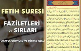 Fetih Suresi Arapça ve Türkçe Okunuşu - Faziletleri ve Sırları