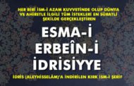 Esma-i Erbeîn-i İdrisiyye Nedir?