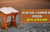 Kuran-ı Kerim'de Geçen Şifa Ayetleri