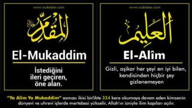 Photo of Ya Alim Ya Mukaddim Esması Anlamı, Zikri ve Fazileti