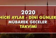 Photo of 2020 Diyanet Dini Günler, Hicri Aylar Takvimi