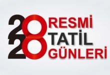 Photo of 2020 Resmi ve Dini Tatil Günleri