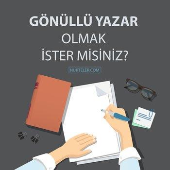 Gönüllü Yazar Ol